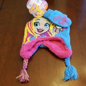 Sale 2 for $25!  Sunny Day hat & mitten set